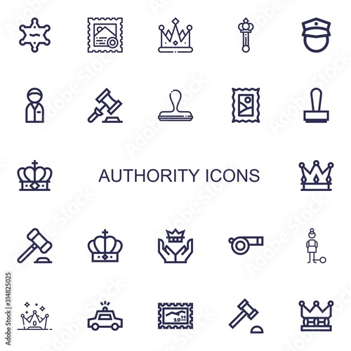 Fotografía Editable 22 authority icons for web and mobile