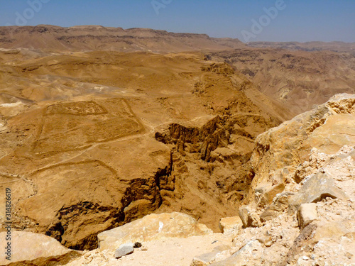 Legionary Camps Remnants at Masada in Israel Canvas-taulu