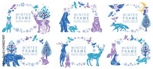 Obraz na plátně 冬 動物 フレーム