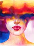 śliczna kobieta. ilustracja mody. Malarstwo akwarelowe - 314827880