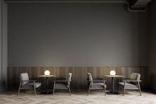 Modern Gray Restaurant Interio...