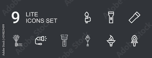 Canvastavla  Editable 9 lite icons for web and mobile