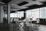 Fototapeta Kawa jest smaczna - Open space office with meeting room