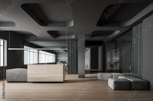 Modern office reception and lounge area Wallpaper Mural