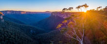 Landscape Sunrise Of Blue Mountains, Sydney, Australia