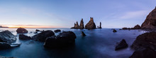 Vik Rock Formation At Reynisfjara Beach In Iceland