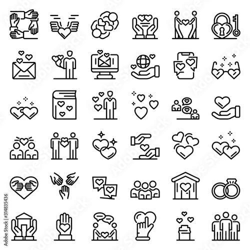 Photo Affection icons set