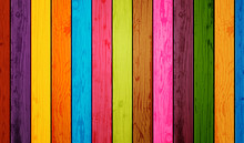 Colored Wood Planks Background...