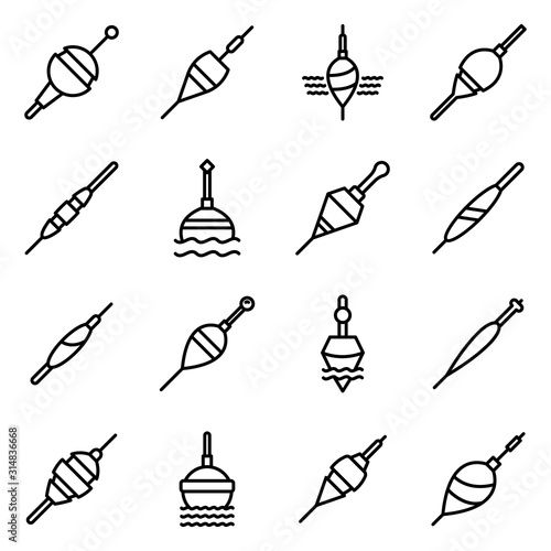 Obraz na plátně Bobber icons set
