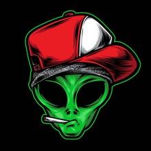 Alien Gangster Vector Logo Ill...