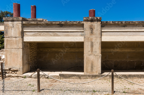 Ruins of the ancient greek palace in Knossos  archaeological site, Crete, Greece Canvas Print