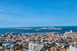 aerial view of Marseille france