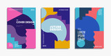 Bauhaus design covers set. Minimal geometric backgrounds.