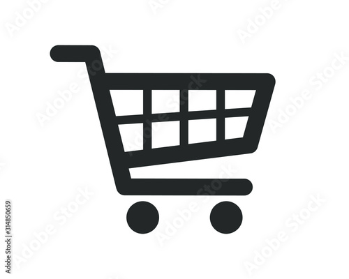 Fotografia Web store shopping cart icon shape button