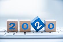 Wood Block 2020 On Table