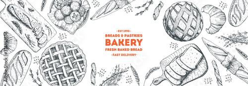 Fotografia Bakery background
