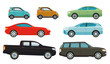 Autos, Limousinen und SUV-Fahrzeuge, Illustration