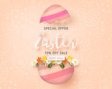 Happy Easter Sale Banner Templ...