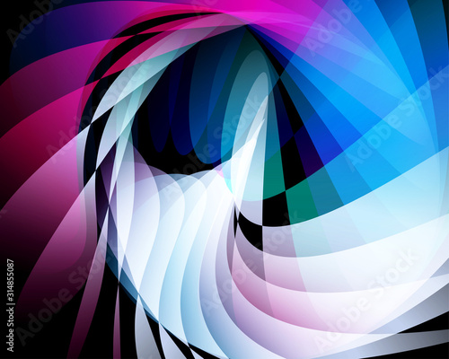 Cuadros en Lienzo Shaped overlap and motion background