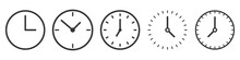 Vector Time And Clock Icons In...