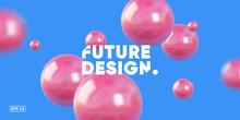 3D Balls Render Composition. E...