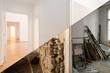 Leinwanddruck Bild -  flat renovation, apartment before and after refurbishment