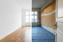 Empty Room Before And After Re...