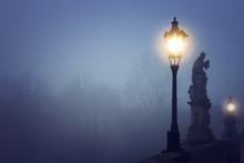 Foggy Image Of Prague Charles ...
