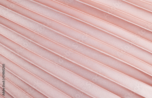 Peach pleated satin fabric Tablou Canvas