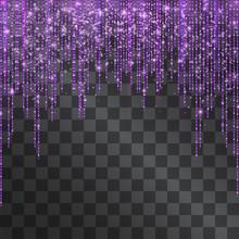 Luxurious Neon Purple Glitteri...