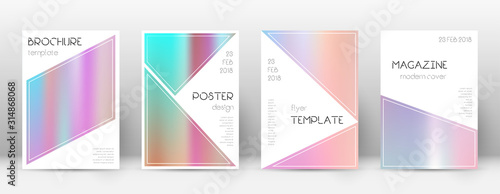 Flyer layout. Triangle unusual template for Brochu Canvas Print