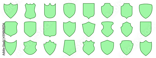 Fotografie, Obraz Set different shields icons, protect signs – vector