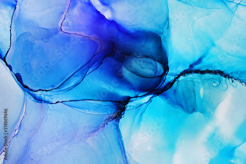 Fototapety, obrazy: Alcohol ink abstract texture