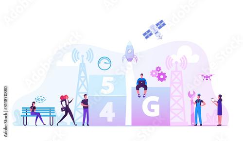 5g Technology Concept Fototapet