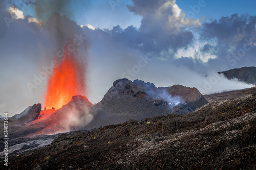 Eruption du volcan Piton de La Fournaise