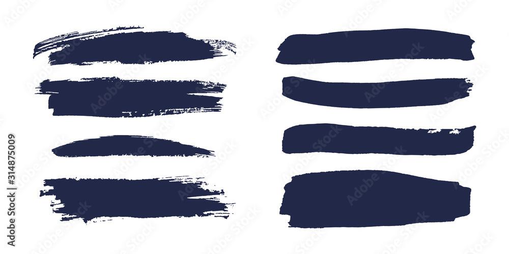 Fototapeta Brush strokes isolated. Ink painting.  Vector artwork