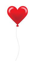 Shiny Red Heart Shaped Balloon
