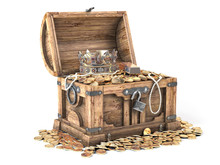 Open Treasure Chest Filled Wit...
