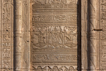 Hieroglyphic Carvings On The E...