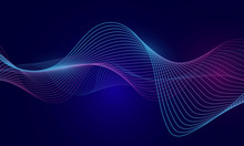 Abstract Blue Wavy Background ...