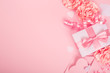 canvas print picture - Valentines Day pink gift box