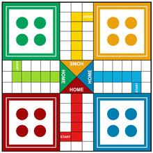 Ludo Board Game  Vector Illust...