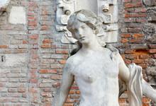 Statue Of A Teen Girl Among Ol...
