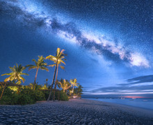 Milky Way Over The Sandy Beach...