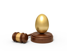 3d Rendering Of Golden Egg On ...