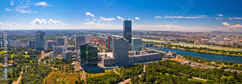 Vienna skyline and cityscape aerial panoramic view Canvas Print
