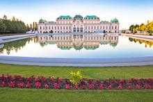Belvedere Park In Vienna Water...