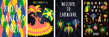 Set Of Brazilian Carnival Post...