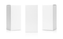 Set Of White Box Tall Shape Pr...