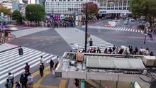 Shibuya, Tokyo, Japan- November 6, 2019: 4K Time Lapse Video Of Pedestrians Cross At Shibuya Crossing, Shibuya Traffic Ward.